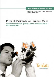 Teradata Pizza Hut Webinar Invitation - Copwriting Work Sample