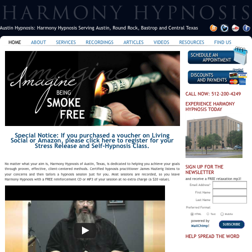 Imagine That Creative's SEO services helped our client attract new business for his stop smoking hypnosis practice in Austin, Texas